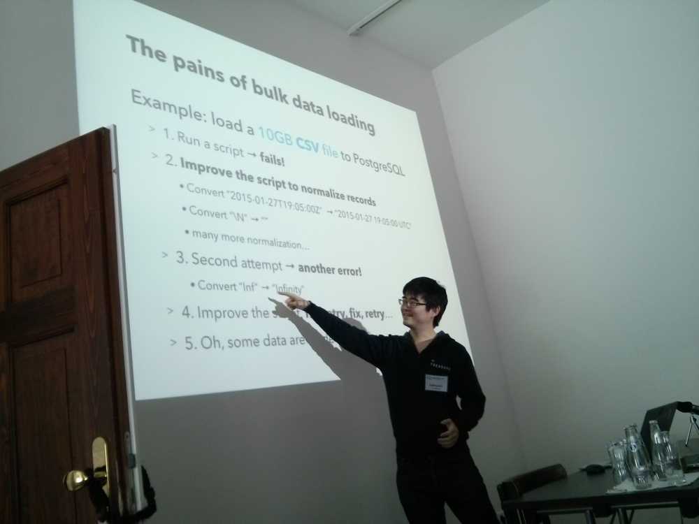 Embulk at csv,conf,v2 - Open Knowledge Labs